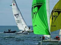 The Claire-Fontaine race in La Trinte, Brittany France