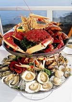 Plateau de fruits de mer in Brittany France